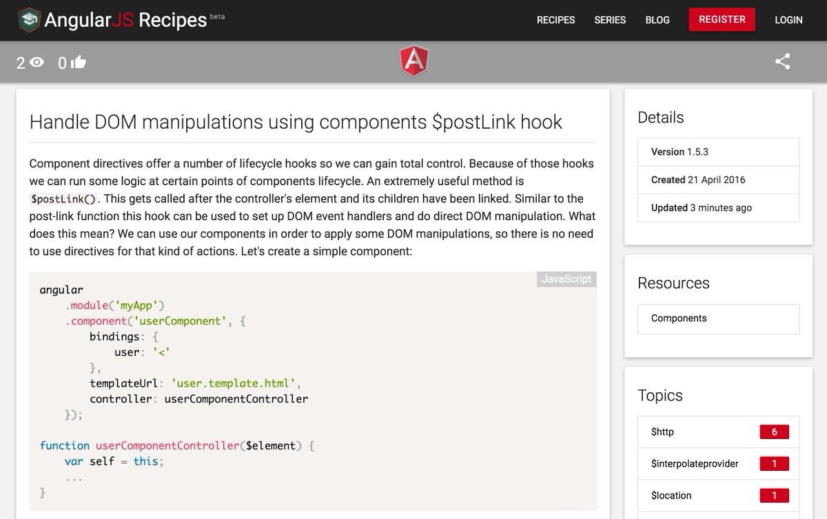 AngularJS Recipes