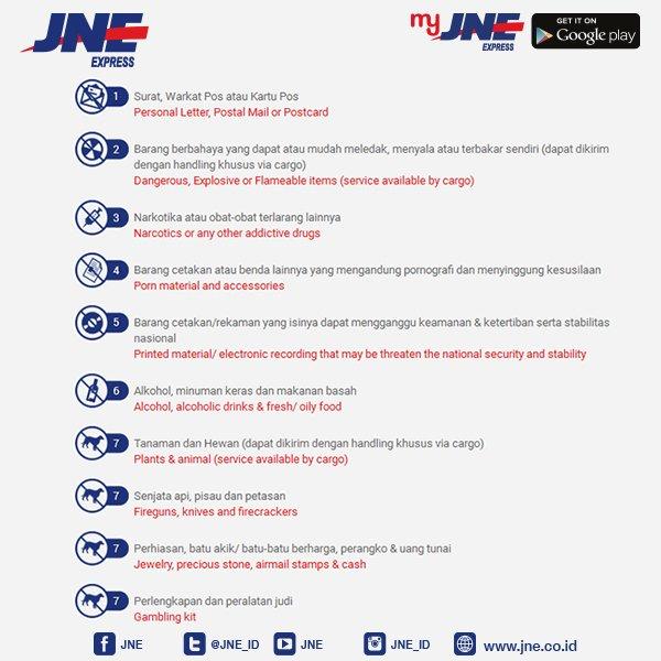 jne express on twitter berikut syarat dan ketentuan pengiriman