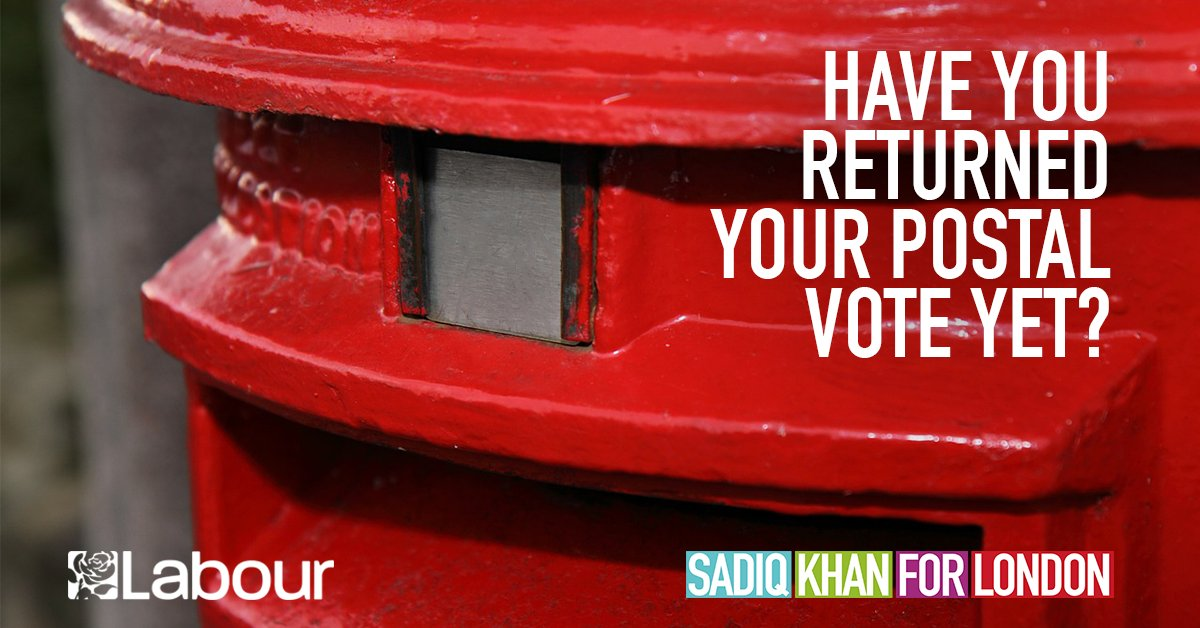 Image result for sadiq khan postal vote