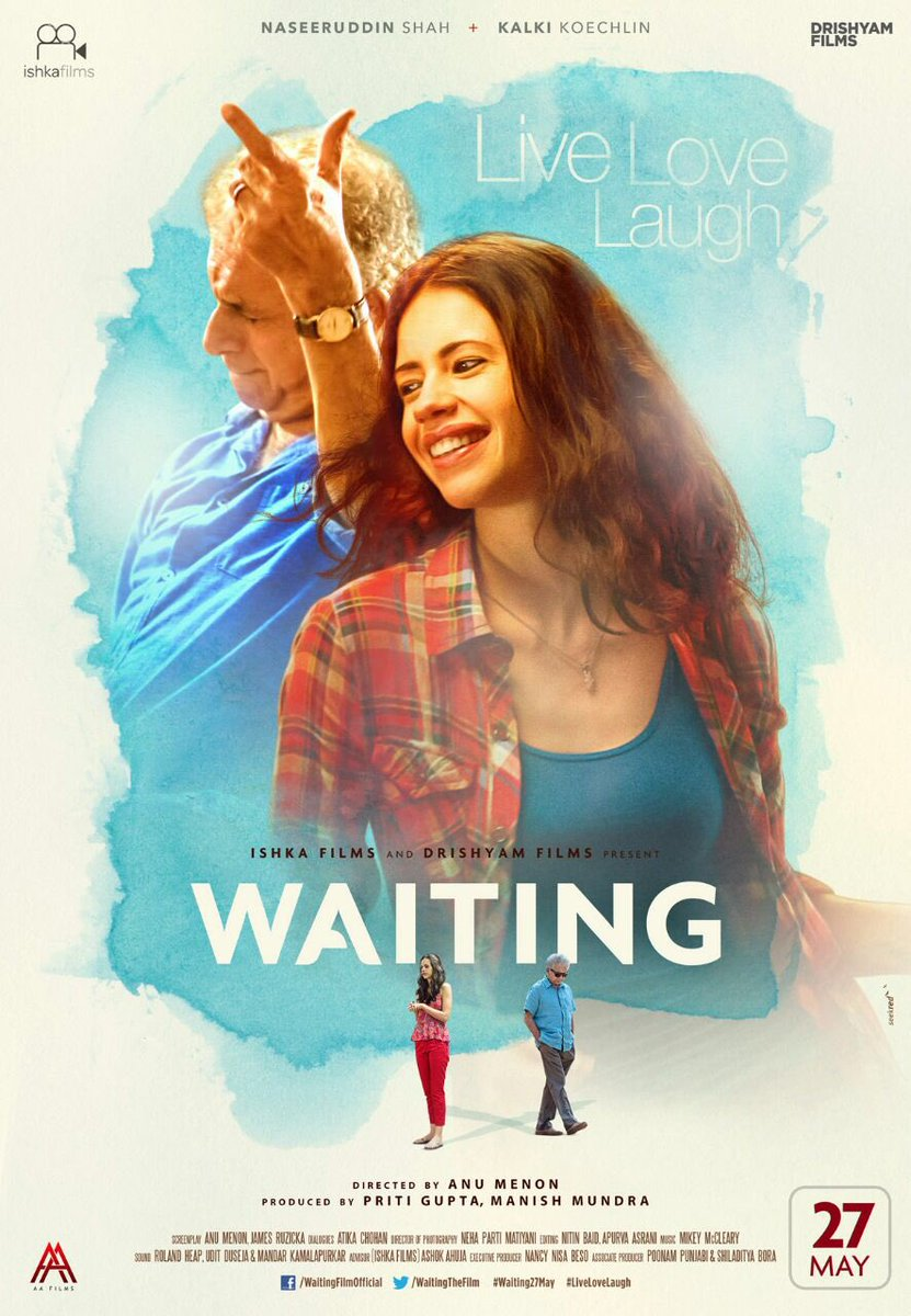 Waiting First Look Poster starring Naseeruddin Shah, Kalki koechlin