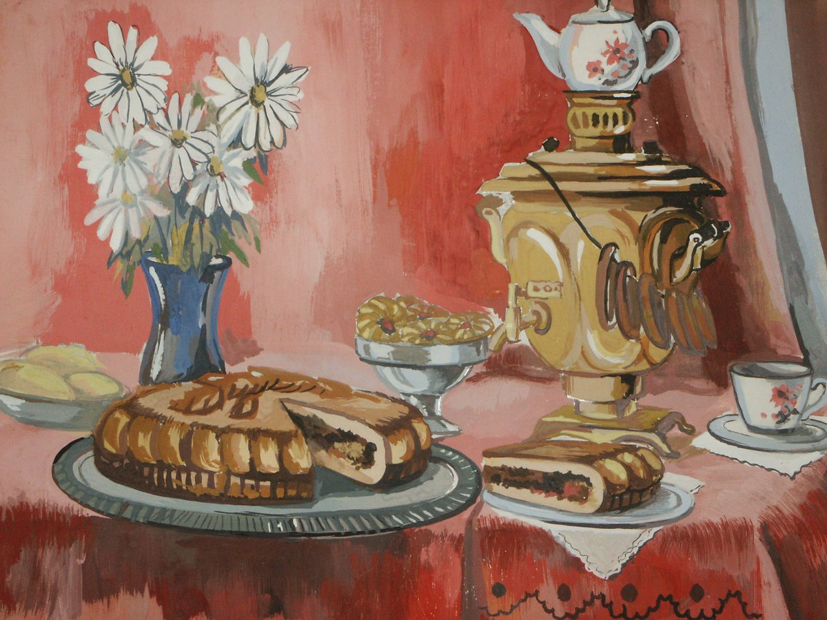 Открытка чаепитие в хоббитшире, открытки открытки