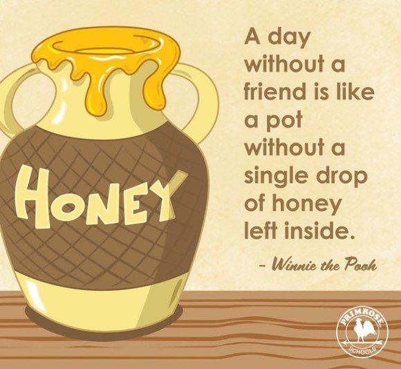 友だちに会えない日は、はちみつが一滴も残っていない壺のようなものだ。 くまのプーさん poohpic.twitter.com/1cQUpIsHur