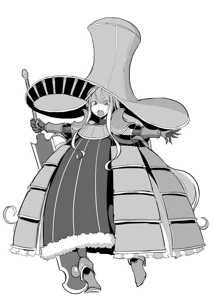"""#創作魔女名鑑 シリーズ """"戦魔女""""リリィ これもpixivファンタジアの子 描くのが死ぬほど面倒だけど個人的にはかなり好きなやつ"""
