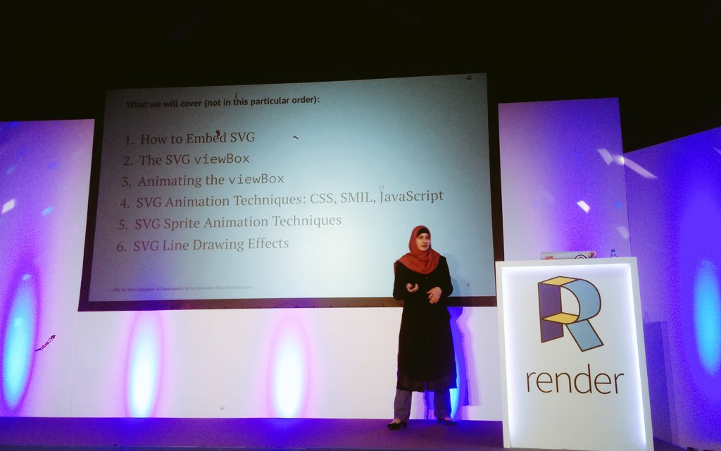 Lucky to have @SaraSoueidan covering so much today at #renderconf https://t.co/2cNUineSSJ