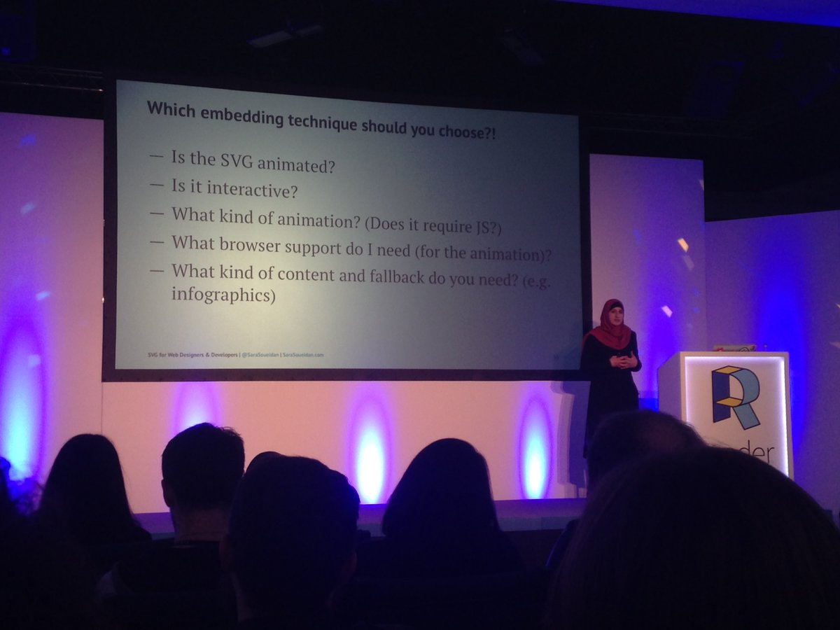 SVG in motion with @sarasoueidan #renderconf https://t.co/CieULwHqag
