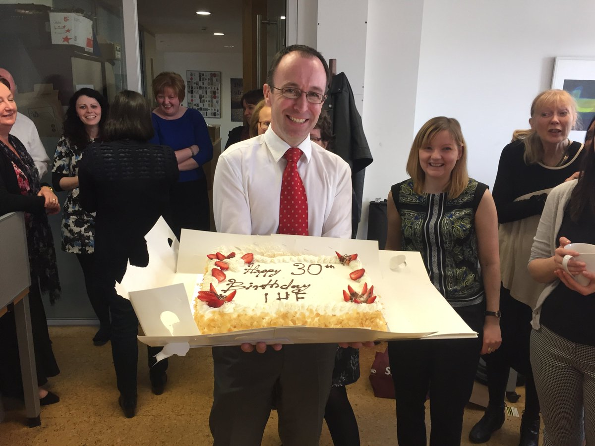 It's our 30th birthday today!Thank you to all who have worked with us & supported us.Cake celebrations in the office https://t.co/Nu6zFTCA6x