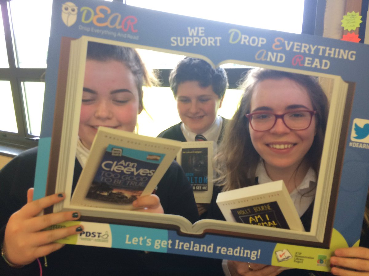 Members of St. Kevin's CC Senior Book Club @jcsplibraries supporting #DEARIrl and reading #WorldBookNight titles https://t.co/dpAFsp7gQ8