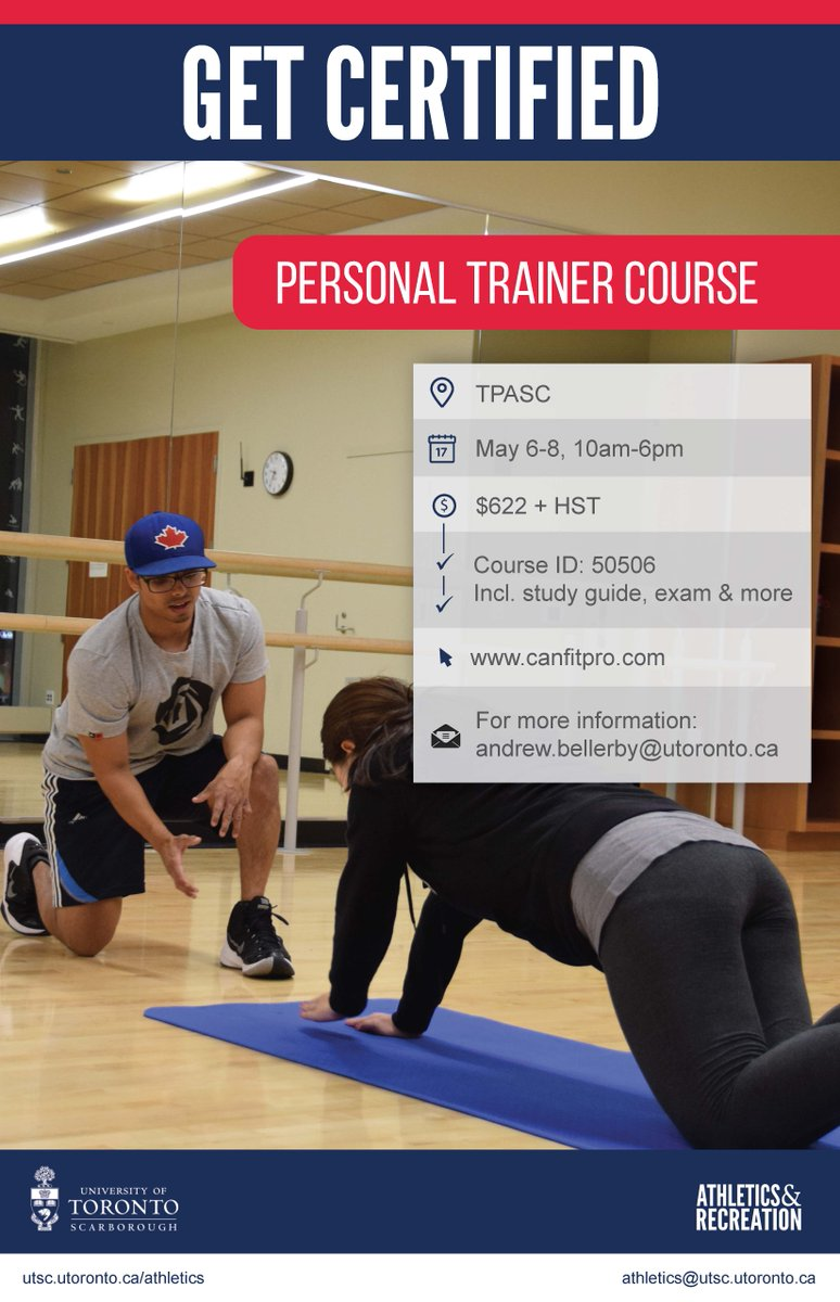 Utsc Athletics On Twitter Utsc Get Certified As Personal Trainer