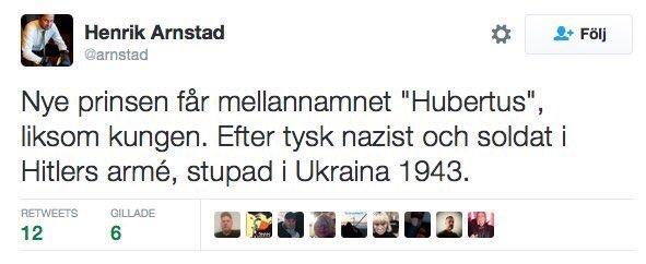 Arnstad goes full Arnstad. Inte längesedan Stefan Löfven hänvisade till honom.