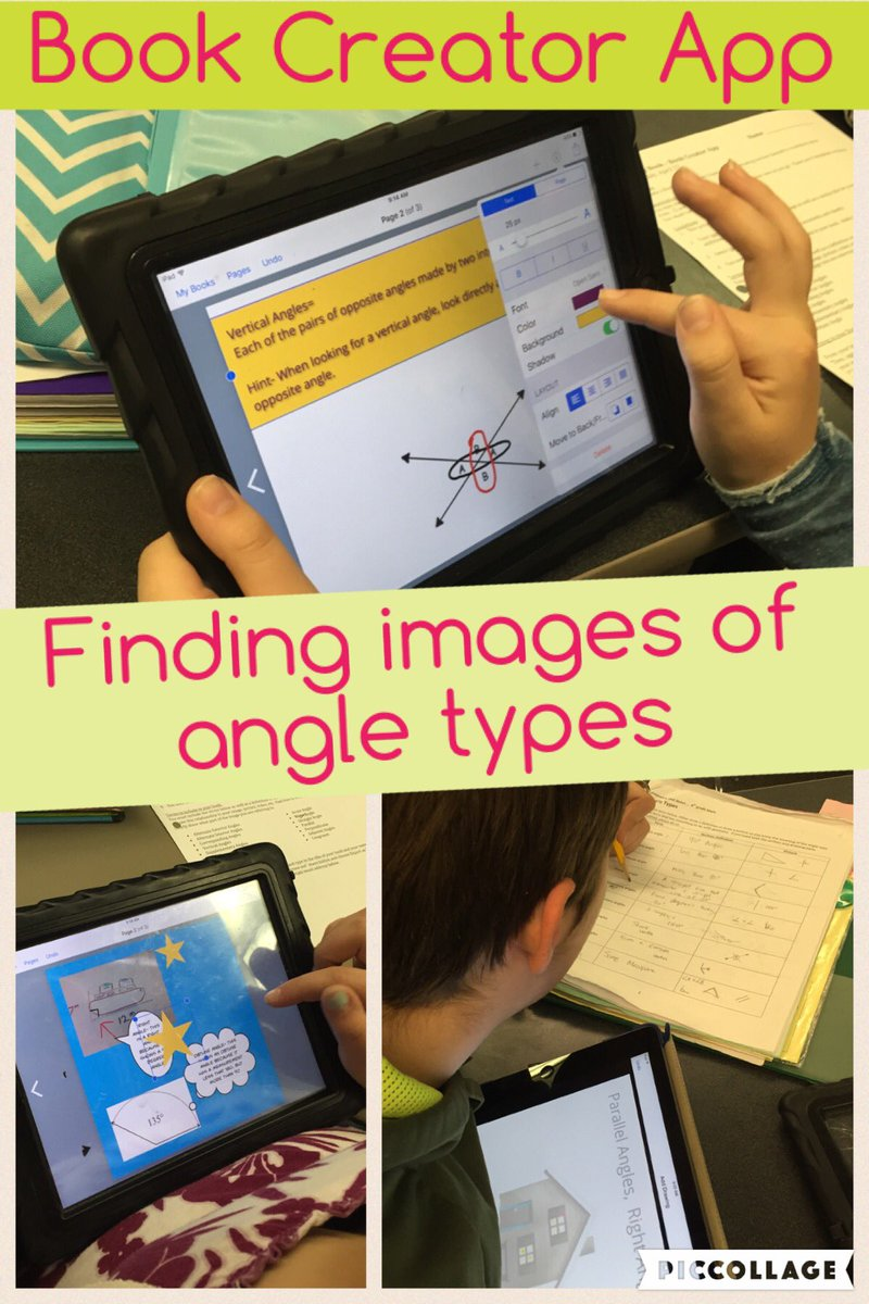 Using @BookCreatorApp to create books for Geo. vocab. Find images, draw, audio, etc. #msmathchat #miched #geomchat https://t.co/q7n6vntryj