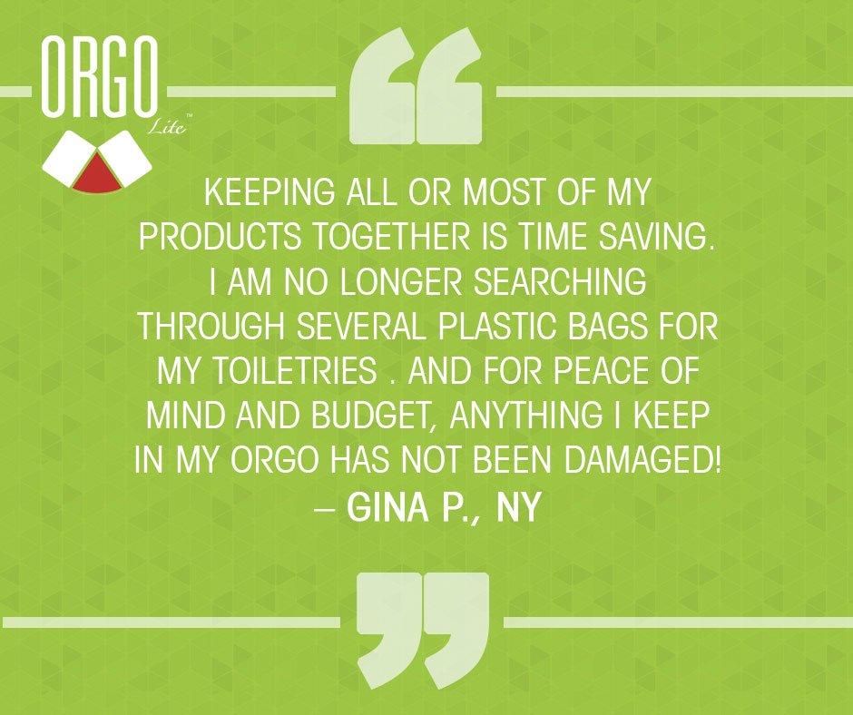 Gina&#39;s saving time &amp; money! You can too! #EverythingOrgo #Spaceaver #Organizer #ToiletryBag #Travel #CityLife<br>http://pic.twitter.com/J6kscHujXv