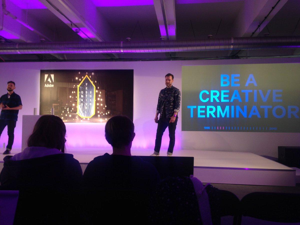 'Be creative terminators!' Brilliant talk from the guys at @4Creative #DandAD16 https://t.co/hW4IZpkncQ