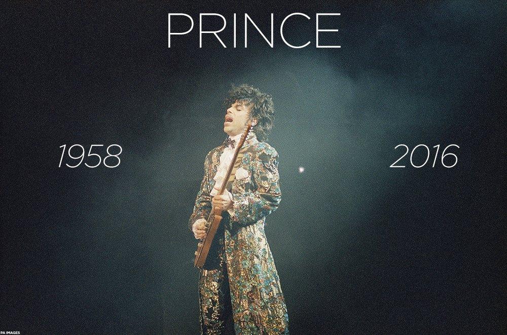 RIP Prince. Legend. https://t.co/o8AnJh8AbI