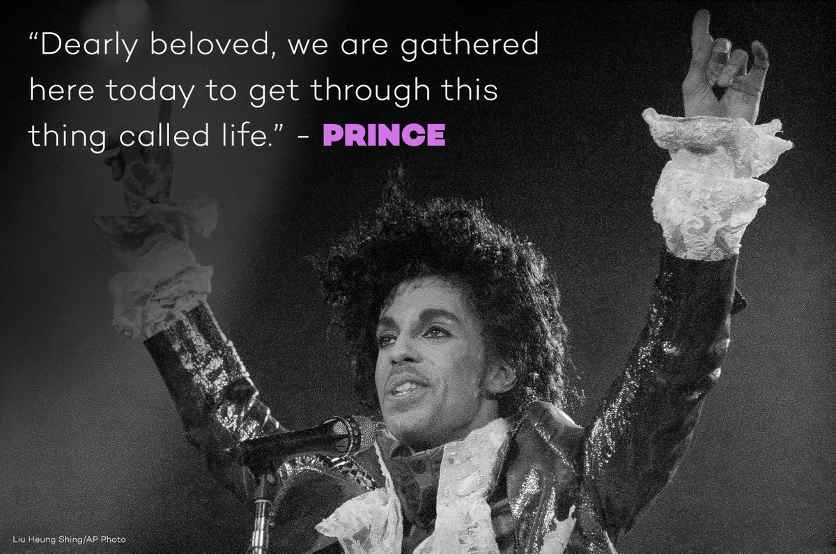 'Dearly beloved, we are gathered here today to get through this thing called 'life.''  #RIPPrince