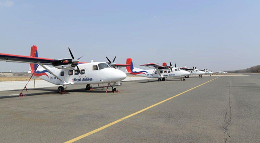 नेपाली झण्डाअंकित ४ विमान चीनमै अलपत्र