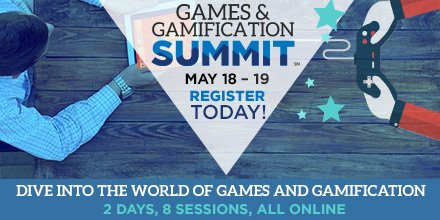 Delve into the world of #games and #gamification at our first-ever #guildsummit, May 18-19! https://t.co/shUjAZXq6d https://t.co/CQeQJL7nbX
