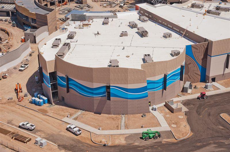 Suntec concrete on twitter new aerials at odysea for Construction aquarium