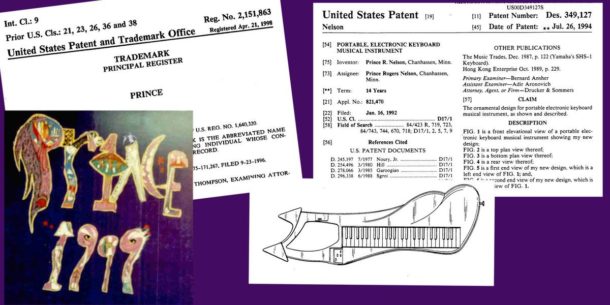 It will always be 1999 on our calendar #Prince #patent #trademark #copyright https://t.co/70QjqRyKbz