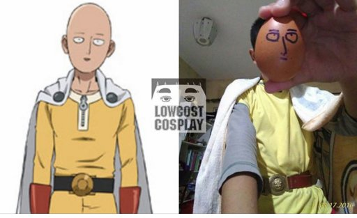 The genius behind Low Cost Cosplay has done Saitama! I have so much respect for this guy's work. He's an artist! UB https://t.co/Hlp5lIey5U
