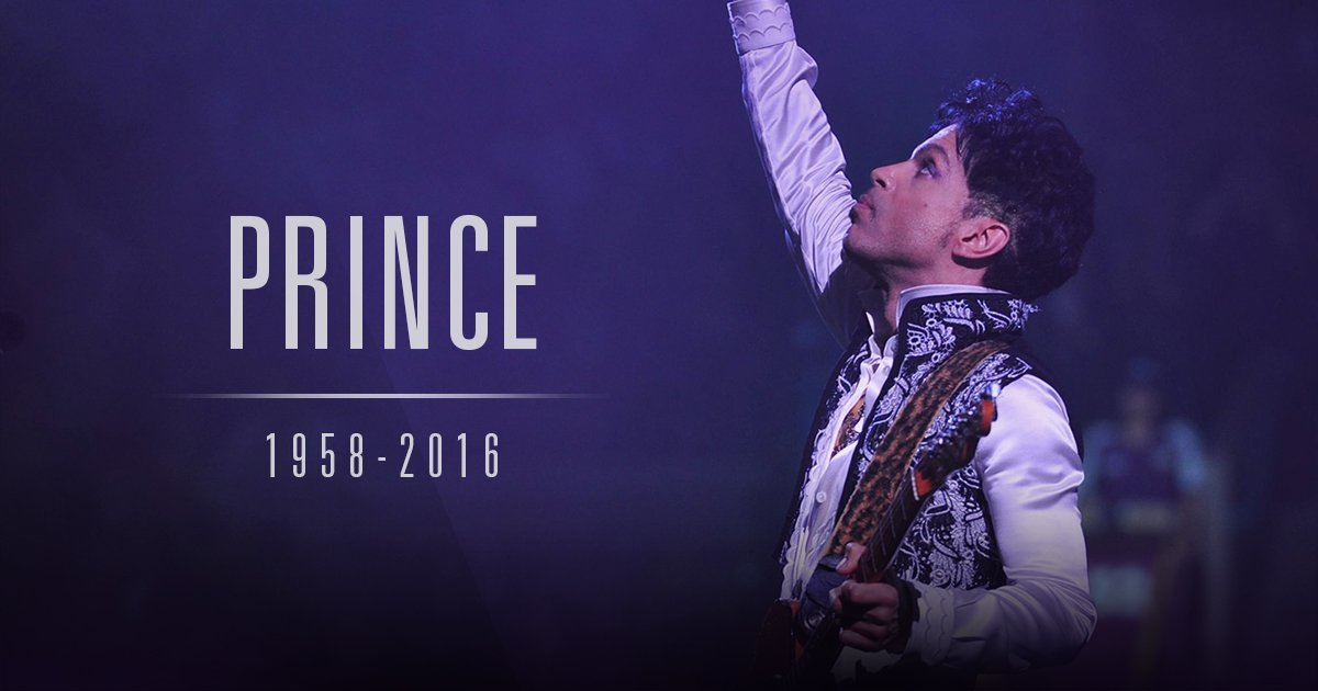 We've lost a legend way too soon. #RIPPrince