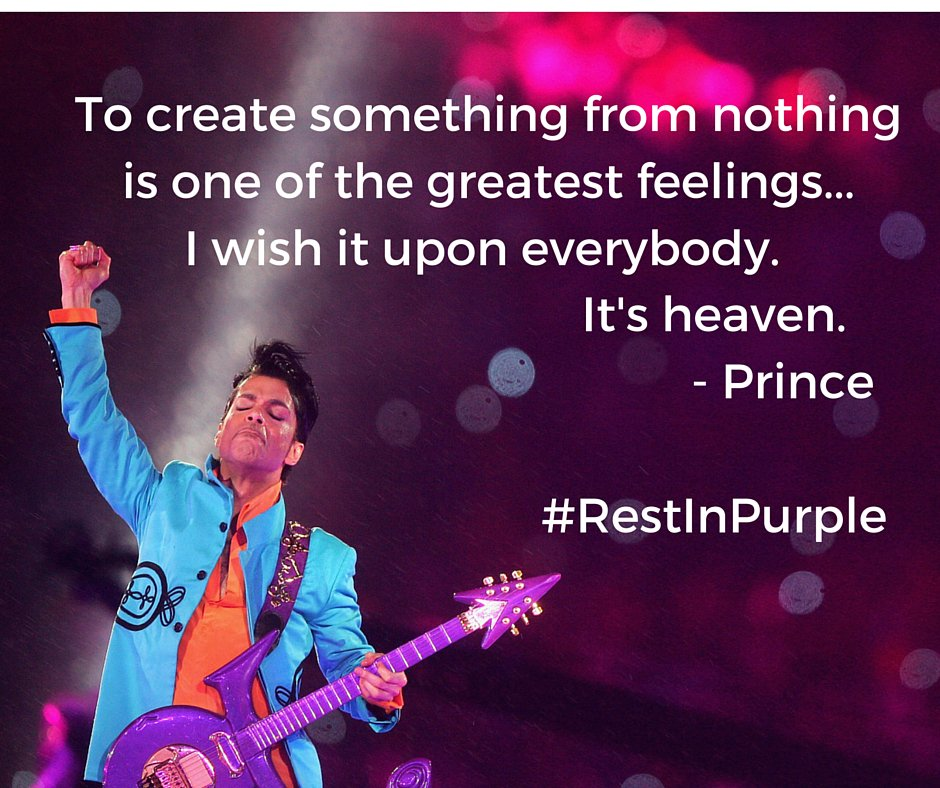 #RestInPurple to a truly amazing and inspiring artist. https://t.co/QdP3vSyvuo