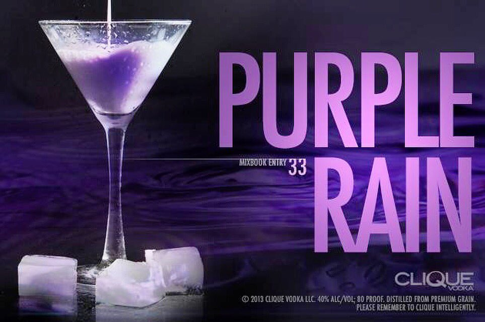In honor of a legend lost too soon. Until we see you again Prince. Cheers.  #prince #purplerain #luxury #martini https://t.co/wm9ZqwcHq1