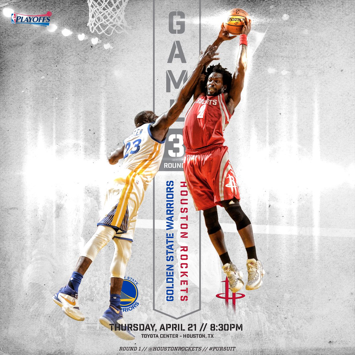 "Rockets Vs Warriors Twitter Reaction: Houston Rockets On Twitter: ""Round 1. Game 3. 🏀: Rockets"