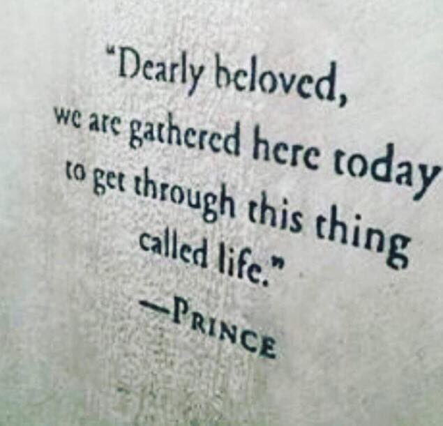 Bittersweet broadcasting on a day like today #Prince