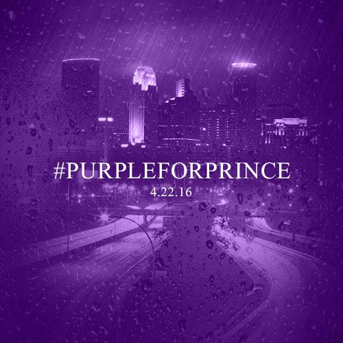 The raindrops are purple today.  Join @ks95 in wearing #PurpleForPrince tomorrow, 4/22. https://t.co/2KDHXskNpW https://t.co/JJr56TpHHT