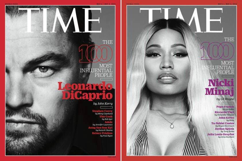 Leonardo DiCaprio e Nicki Minaj sulla copertina di Time