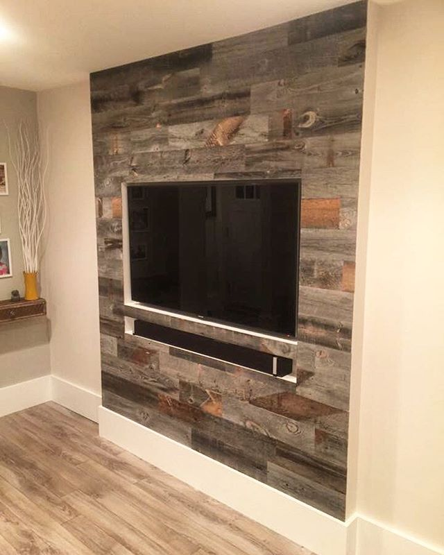 real wood decor stikwood is a peel and stick real wood decor rethink your walls A recessed TV wall never looked so awesome! @stikwooddesign #stikwood # realwood #DIYpic.twitter.com-7blydPqUBW