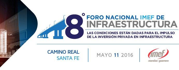 Programa del 8° Foro Nacional IMEF de #Infraestructura: https://t.co/qfD7uqRNip https://t.co/0SUGYuM7lA