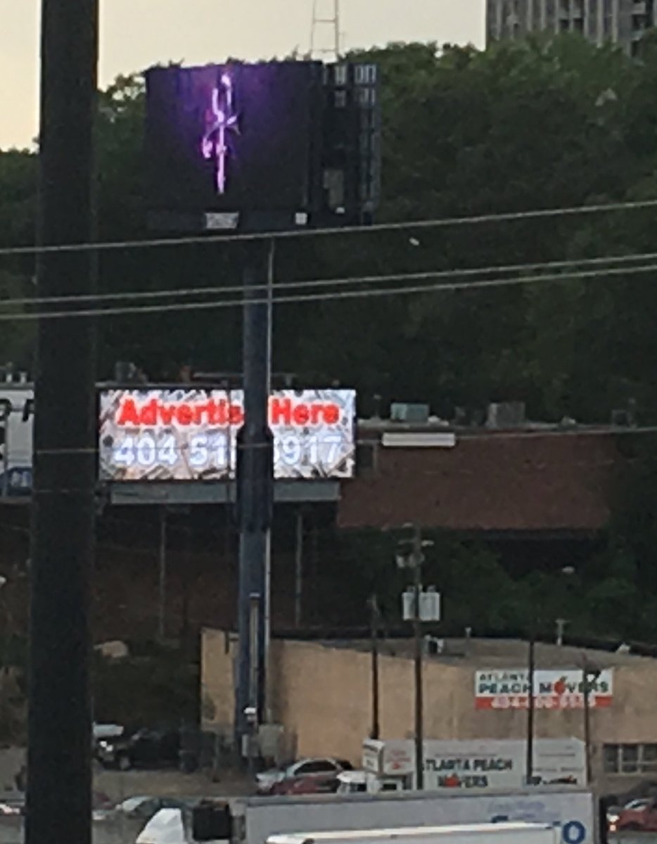Shout out to whoever programmed the #Prince billboard on the downtown connector tonight. https://t.co/P2SFDKwsZg