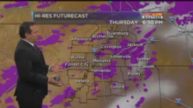 Meteorologist honors #Prince by turning rain in #forecast to #Purplerain #WMC5 https://t.co/xMCQQvanaj