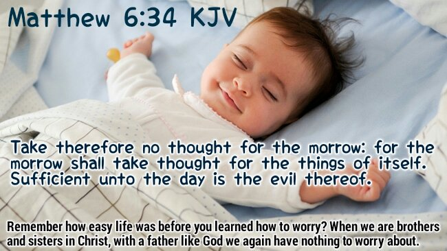 "Bible Verses KJV on Twitter: ""Matthew 6:34 KJV Take therefore no ..."