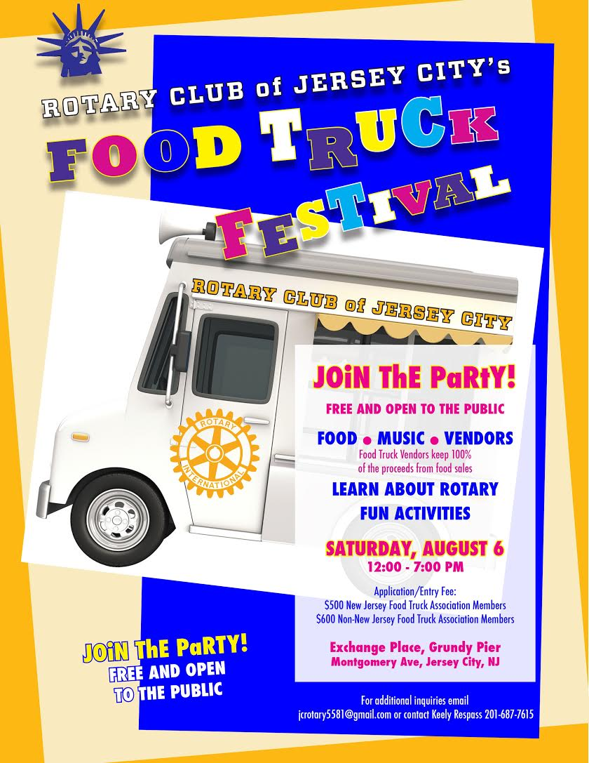 The 1st Jersey City Food Truck & Music Festival ! All Food Vendors are invited, for applications: 201-687-7615! https://t.co/7F8JCmeRs8