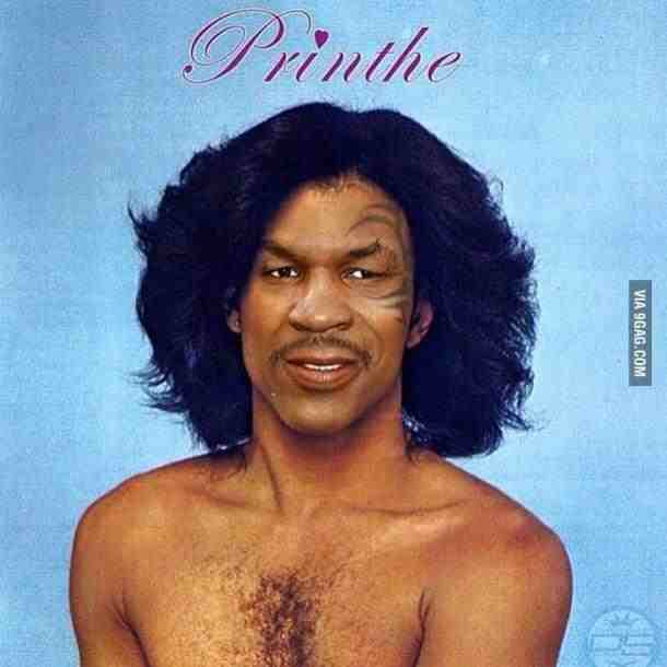 Mike Tyson weird and strange Prince picture tribute