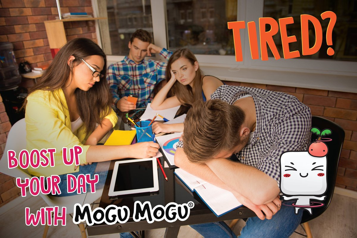 Feeling tired for the week? Grab a Mogu Mogu to boost your energy! #mogumogu #yougottachew <br>http://pic.twitter.com/Q9P01oZ4li
