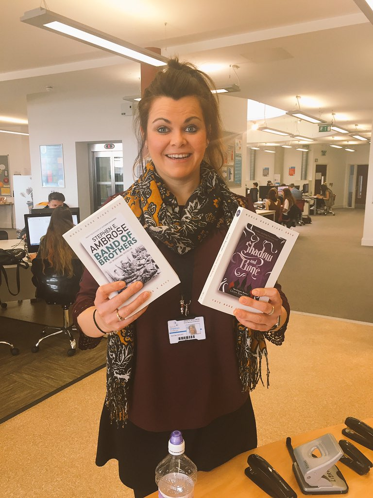 Just been to @LibrarySCC based @SCheshireColl for my free books for #WorldBookNight 😄 https://t.co/GScAgXQ4JW