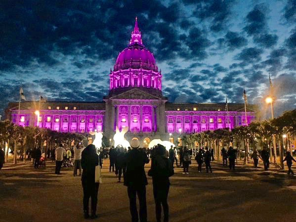 Sebastien On Twitter The Sky Was All Purple There Were People Running Everywhere Prince Sfcity Hall