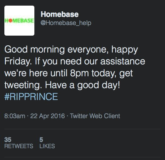 Ah, so it appears Homebase deleted that tweet, unsurprisingly. Lucky I screengrabbed it then, eh? https://t.co/YAvlyNQr8D