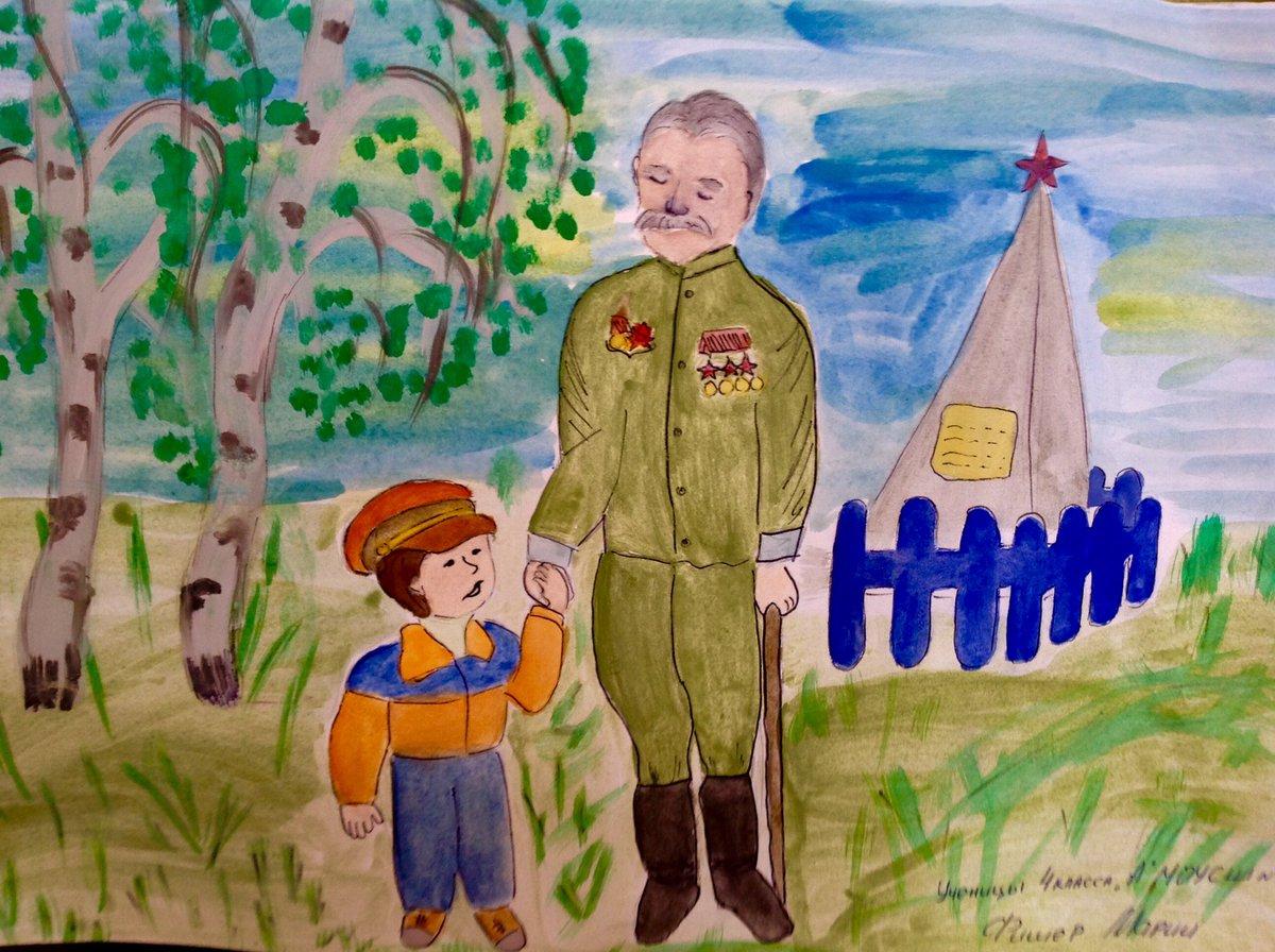 Детские рисунки на тему войны и победы