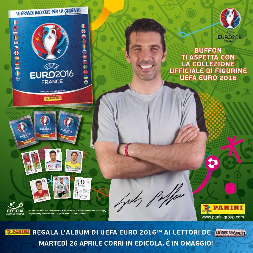 Nuovo Album figurine Panini dedicato a UEFA Euro 2016