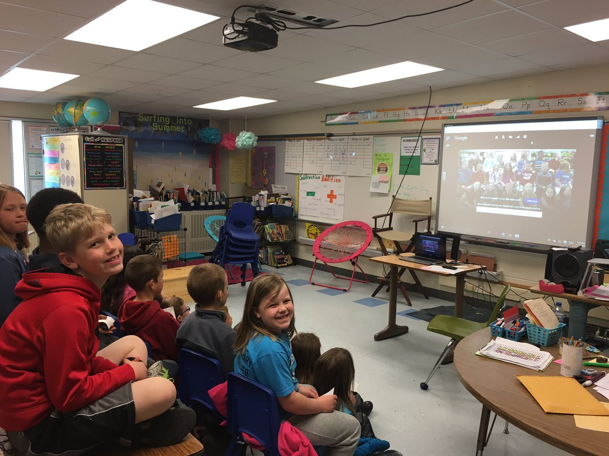 This morning we had a video chat with 2nd graders in New York. Celebrating Earth Day.#BunceeED16 https://t.co/7MfXjPXtxX