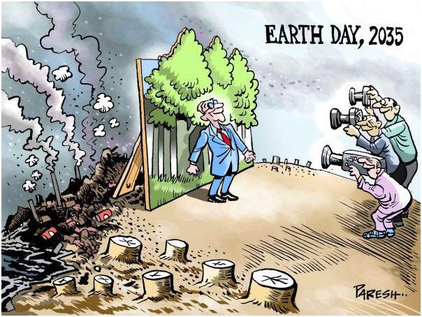 If we don't clean up our act and take care of our earth this will be us in 2035. #EarthDay