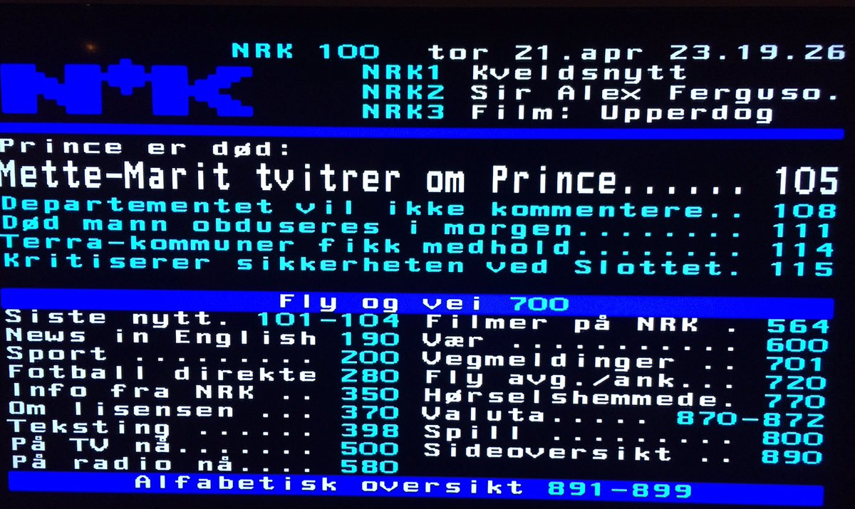Til de av dere som ikke fulgte med på text-tv etter Prince' død; dette var høydepunktet. https://t.co/YGxbBq92qa