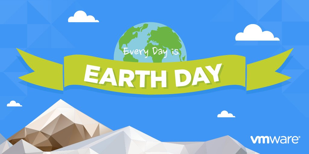 The @VMware community celebrates #EarthDay every day. Check out how: https://t.co/RrWqlzRsLt #24Seven https://t.co/h2ny3UCXnK