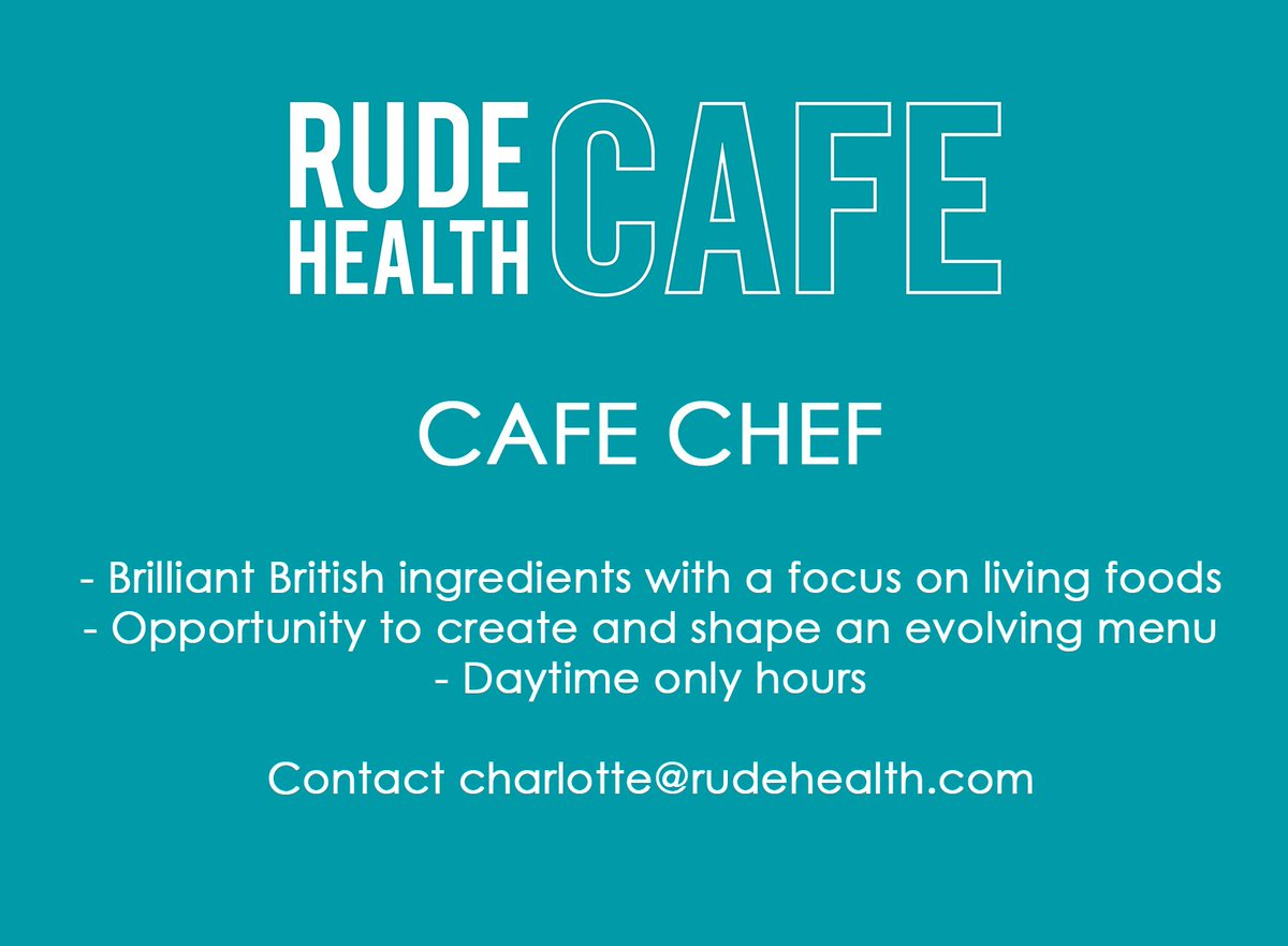 WE ARE HIRING. Looking for a chef for our new cafe in SW London. Interested, get in touch. Please RT https://t.co/3EFqROIZIh