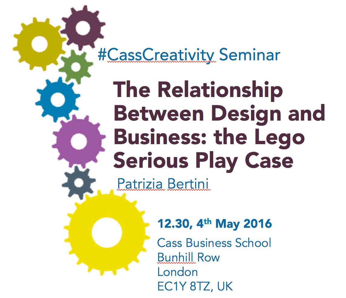 #CassCreativity: Design and Business: the Lego Serious Play Case, 4th May @cassbusiness  https://t.co/Ri8SIyr3dR https://t.co/DXHjuqsnwS