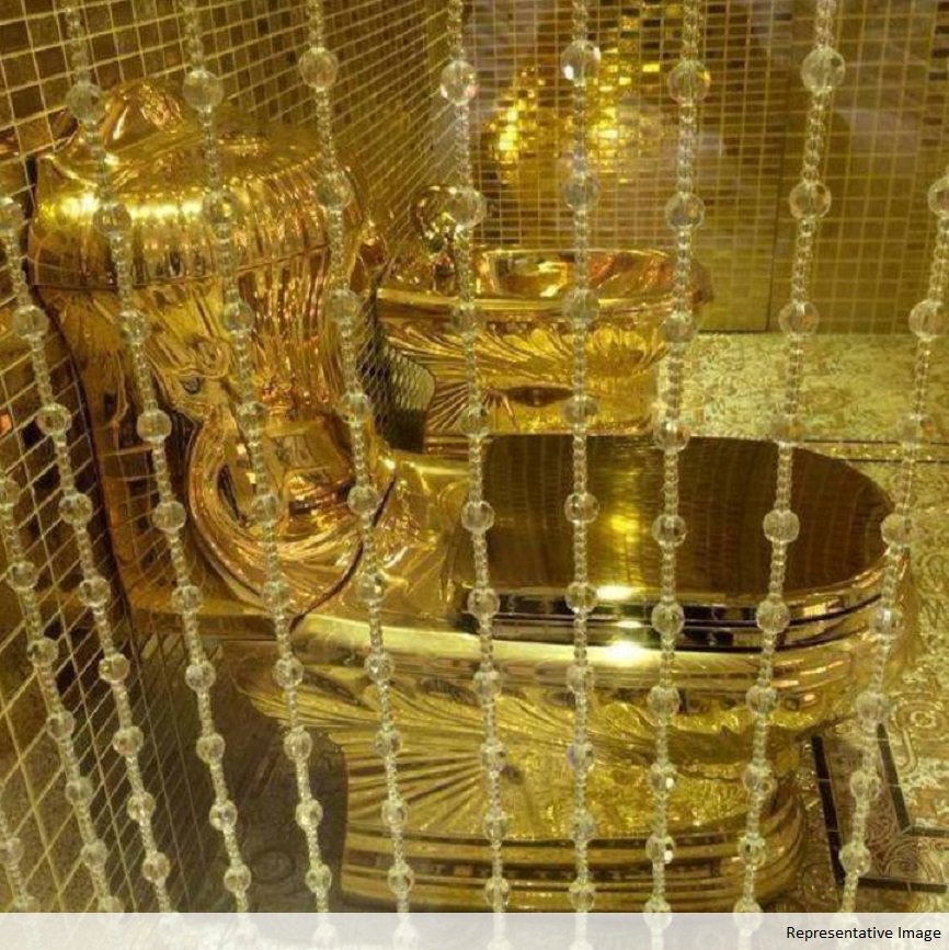 Fully Functional 18 Karat Solid Gold Toilet Seat Set To Be Installed At A Us